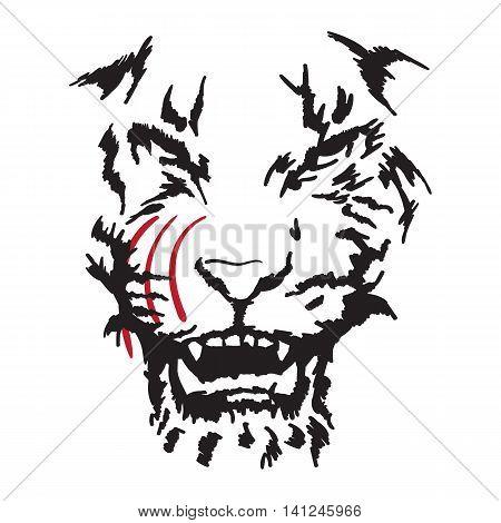 feline fangs warning of danger the contour image