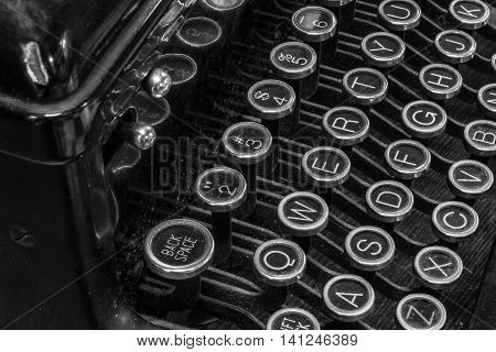 Antique Typewriter - An Antique Typewriter Showing Traditional QWERTY Keys XIV