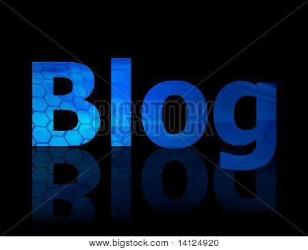De Blog symbool waarmee het internet