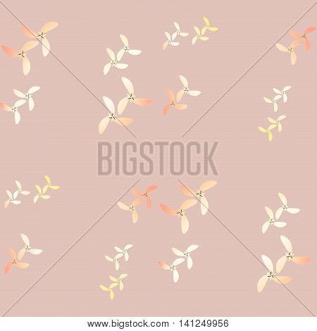 Abstract geometric seamless background. Modern irregular pattern in beige, yellow,  peach and apricot color on pink.
