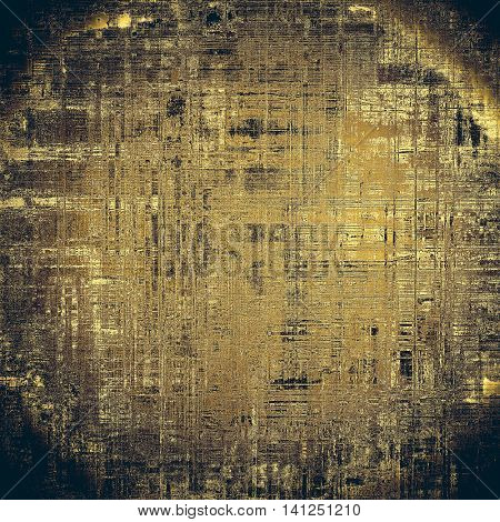 Spherical vintage elegant background, creased grunge backdrop with aged texture and different color patterns: yellow (beige); brown; gray; black