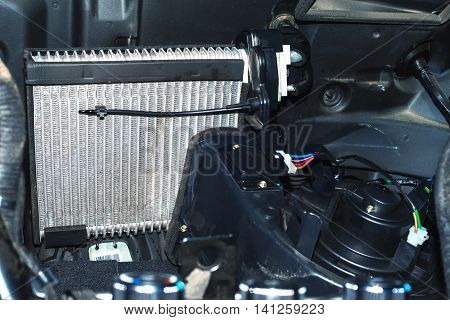 installed in the operating position of the car radiator heater