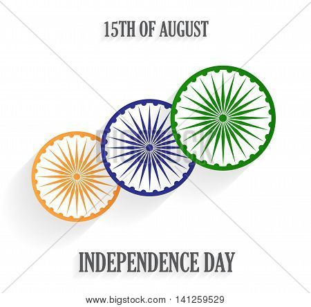 India Independence Day poster. 15th of August. Vector illustration.