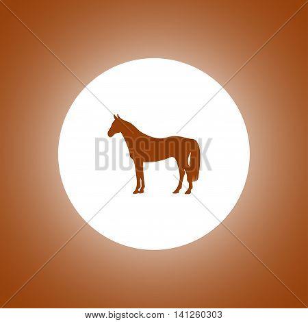 Horse Icon. Modern Design Flat Style