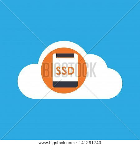 tech computer and ssd icon, vector illustration