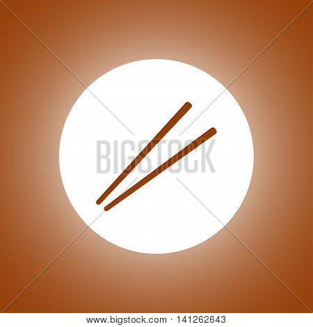 Chopsticks Flat Icon For Food Apps And Websites.