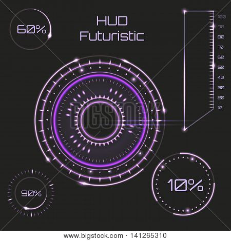 Futuristic Graphic User Interface. Abstract Future, Concept Vector Futuristic Blue Virtual Graphic T
