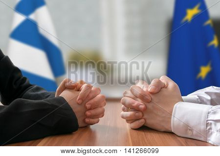 Negotiation Of Greece And European Union. Statesman Or Politicia