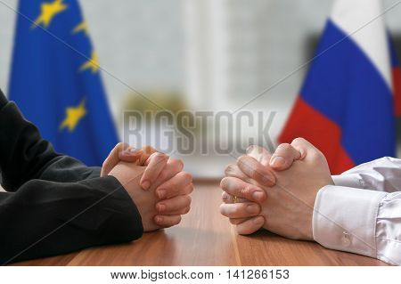 Negotiation Of Russia And European Union. Statesman Or Politicia