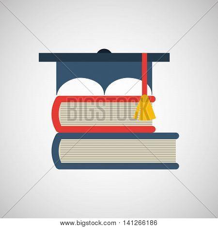 graduation cap, education ceremony icon, vector illustration