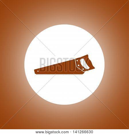 Hacksaw Icon. Vector Concept Illustration For Design