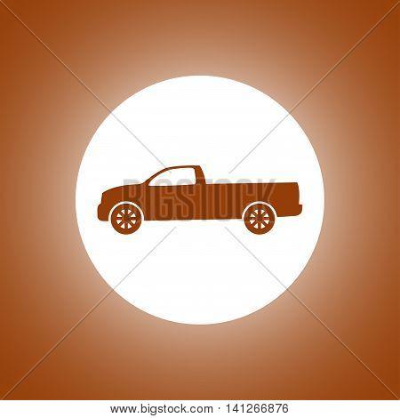 Pickup Icon. Vector Concept Illustration For Design