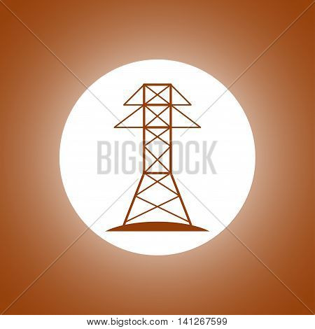 Electric Tower Line Icon