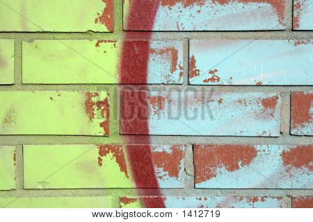 Colorful Graffiti On A Brick Wall