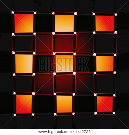 Abstract Bright Checkerboard