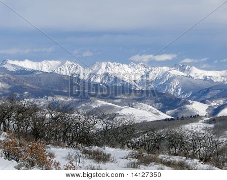 Winter Snow On The Craggy Mountains