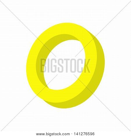 Intersex sign icon in cartoon style isolated on white background. Tolerance symbol