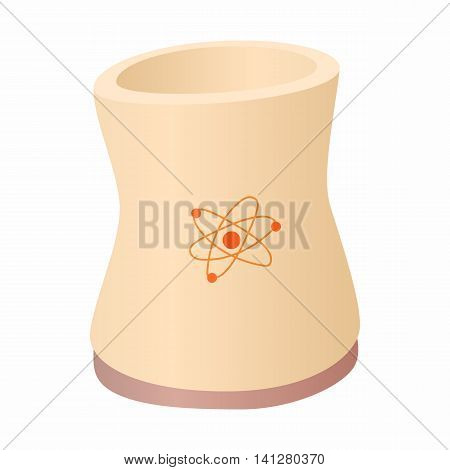 Cylinder for storage of substances icon in cartoon style isolated on white background. Manufacture symbol