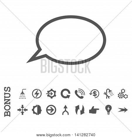 Hint Cloud vector icon. Image style is a flat pictogram symbol, gray color, white background.