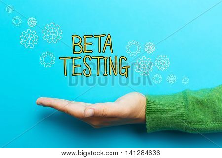 Beta Testing Concept With Hand