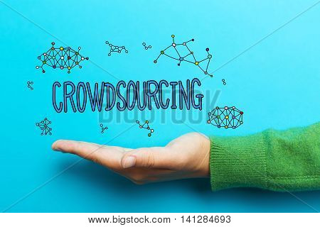 Crowdsourcing Concept With Hand