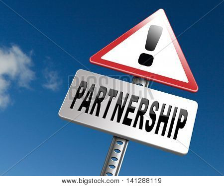 Partnership partners in crime or business partner cooperate pact 3D illustration