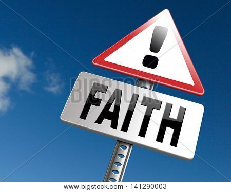 faith trust and belief in god jesus christ and friends 3D illustration