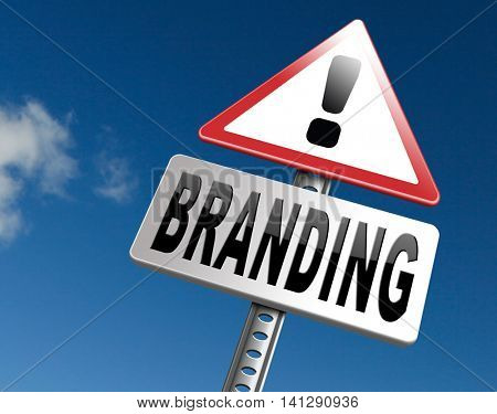 branding your own brand new product name promotion of trademark by recognition 3D illustration