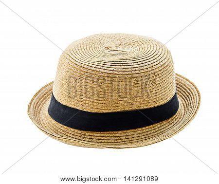Brown man hat isolated on white background saved clipping path.
