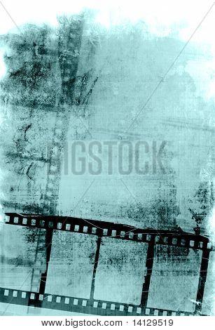 Tira de filme grande para texturas e fundos com espaço para seu texto e imagem