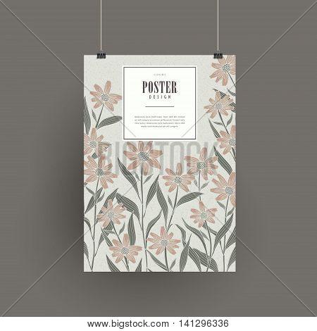 Graceful Floral Poster Design