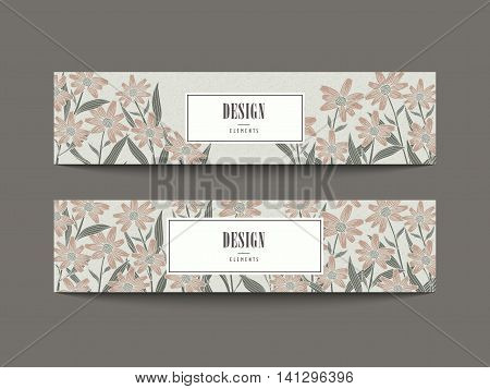 Graceful Floral Banner Set Design