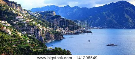 Breathtaking views of Amalfi coast, Italy