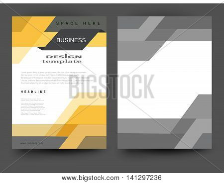 Flyer template.Business brochure flyer design.Abstract vector modern background.