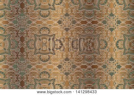 Guilloche pattern monogram openwork decoration elements Vintage textures.