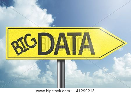 Big Data yellow sign