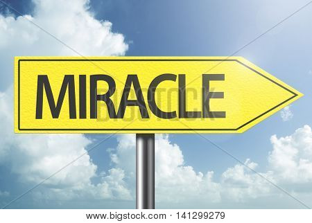 Miracle yellow sign