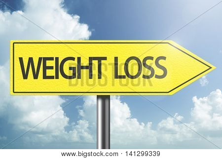 Weight Loss yellow sign