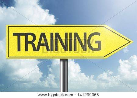 Training yellow sign