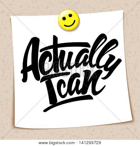 Actually I can note paper attached magnet. Vector illustration
