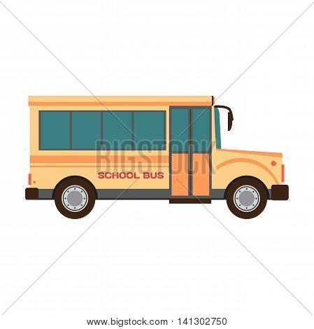 School bus vector illustration flat cartoon for design