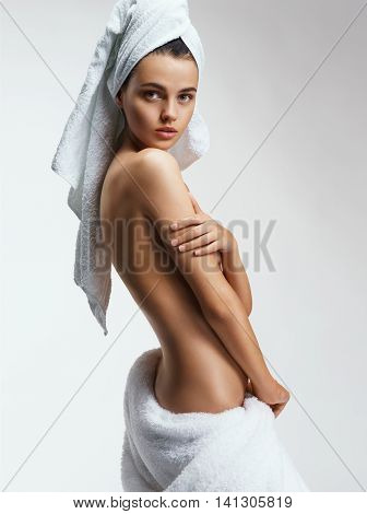 Beautiful back of young woman. Beauty & Skin care concept
