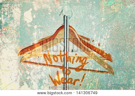 Nothing To Wear Design Wooden Coat Hanger Shabby