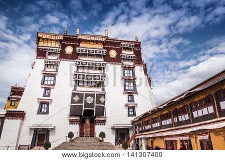 A residential building in Potala palace, Lhasa, Tibet