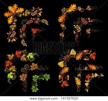 Set Of Autumn Leaves Design Elements.