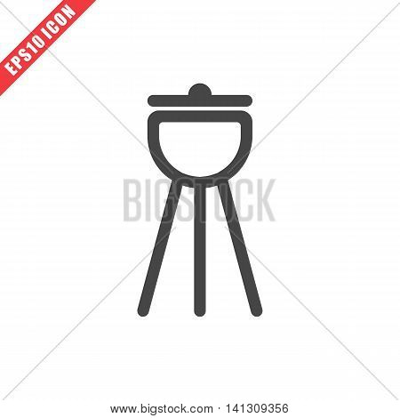 Vector illustration of barbecue icon on white background. Simple black kitchenware image