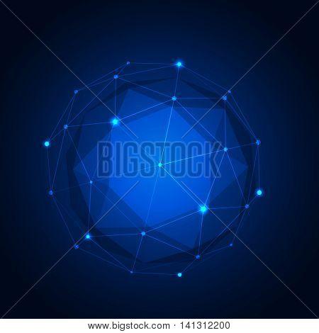 Polygonal geometric figure.