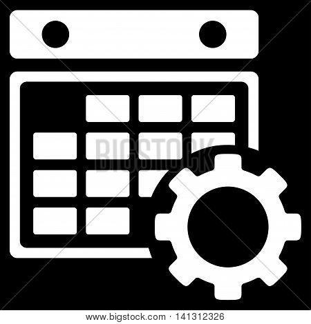 Organizer Configuration vector icon. Style is flat symbol, white color, rounded angles, black background.