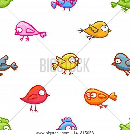 Little Birds Seamless Pattern