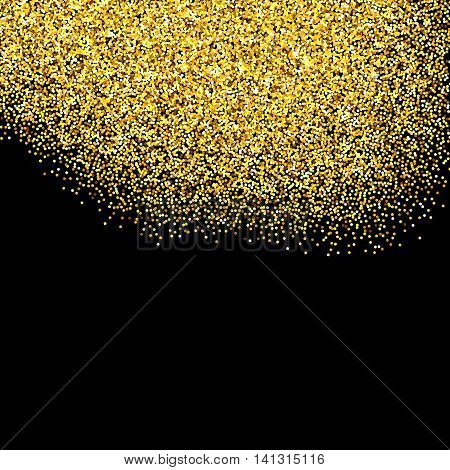 Gold Glitter Textured Border